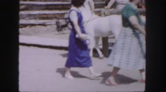 1958: children and families at a western themed park or attraction COLORADO Stock Footage