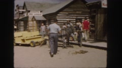 1958: men, women, children, outdoors COLORADO Stock Footage