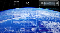 Satellite image. Data stream. Monitoring Earth from space Stock Footage