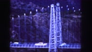 1958: a bridge is seen from a mountain area with greenery and trees COLORADO Stock Footage