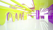 Abstract Architecture. Concept of organic architecture. Stock Footage
