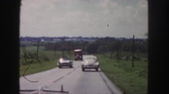 1958: a highway through the countryside as seen from a moving vehicle COLORADO Stock Footage