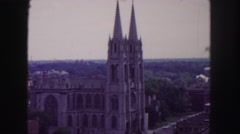 1958: a castle is seen from a car COLORADO Stock Footage