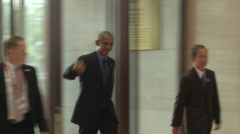 Barack Obama President of the USA Stock Footage