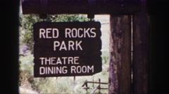 1958: at the red rocks park we noticed that they had a theatre dining room Stock Footage