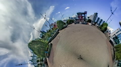 Little Tiny Planet 360 Degree. Kiev. Station Stock Footage