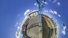 Little Tiny Planet 360 Degree. Kiev.train Station Stock Footage