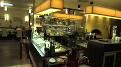 Authentic people in luxury bar and restaurant, waitresses, Czech Republic Stock Footage
