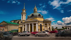 Kiev Motion Timelapse. Church of the Nativity. Stock Footage