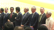 Asean Leaders Stand Stock Footage