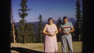 1958: a couple is seen walking happily COLORADO Stock Footage