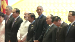 Obama and Asean Leaders Stock Footage