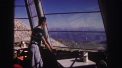 1958: just enjoying the most perfect view ever COLORADO Stock Footage