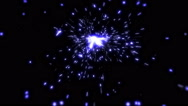 Blue Sparks In Slow-Mo - 16 Stock Footage