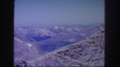 1958: a rugged mountain top with crevices filled with snow COLORADO Stock Footage