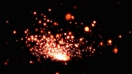 Red Sparks In Slow-Mo - 2 Stock Footage