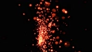 Red Sparks In Slow-Mo - 6 Stock Footage
