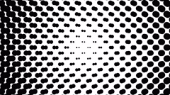 Dynamic black and white composition. Halftone element. Loop ready animation. 4K. Stock Footage