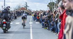 Conflans-Sainte-Honorine,France-March 6,2016: The Cyclist Daniel Mc Lay Stock Photos