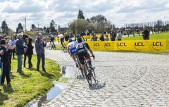 Hornaing ,France - April 10,2016: The Peloton - Paris Roubaix 2016 Stock Photos