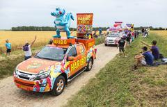 Quievy,France - July 07, 2015: Haribo Caravan - Tour de France 2015 Stock Photos