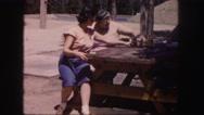 1958: a picnic in a garden area is seen COLORADO Stock Footage