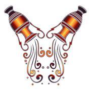 Bright amphora, zodiac Aquarius sign Stock Illustration