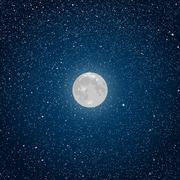Vector Background. Starry night sky. Star. Moon. Stock Illustration
