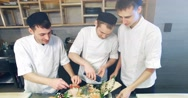 Decoration of sushi set. 4k 30fps Stock Footage
