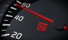 Glowplug warning light in car dashboard. 3D rendered illustration. Close up v Stock Photos
