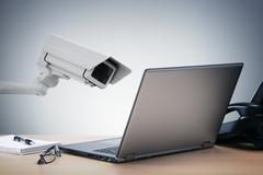 Big brother surveillance Stock Photos