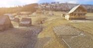 Carpathian Village in mountains. 4k 30fps Stock Footage