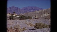 1957: a hilly area is seen with trees and greenery DEATH VALLEY, CALIFORNIA Stock Footage