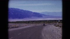 1957: a road trip is seen DEATH VALLEY, CALIFORNIA Stock Footage