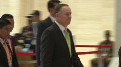 New Zealand Prime Minister John Key Stock Footage