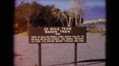 1957: a railway track area is seen DEATH VALLEY, CALIFORNIA Stock Footage