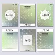 Set of business templates for brochure, flyer, cover magazine in A4 size Stock Illustration