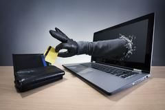 Internet crime and electronic banking security Stock Photos
