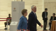 Malcolm Turnbull Prime Minister of Australia Stock Footage