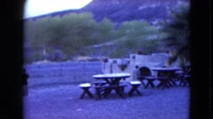 1957: a beautiful place to take vacation with the family lovely views hills Stock Footage