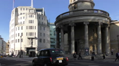 BBC Broadcasting House London 4K Stock Footage