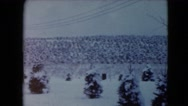 1957: a snow covered road is seen LAS VEGAS, CALIFORNIA Stock Footage