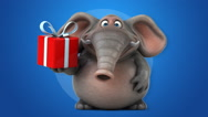 Fun elephant - 3D Animation Stock Footage