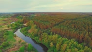 River panorama. 180 degree Turn right. 4k 30fps Stock Footage