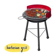 Barbecue Grill Concept Piirros