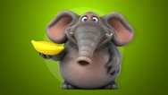 Fun elephant - 3D Animation Stock Footage