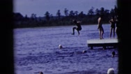1958: a diving scene is seen NEW YORK CITY Stock Footage