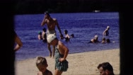 1958: bathing in the river NEW YORK CITY Stock Footage