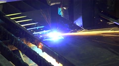 CNC Plasma Cutting at the Metal structures plant. Stock Footage