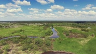 River panorama. 4k Aerial view. 30fps Stock Footage